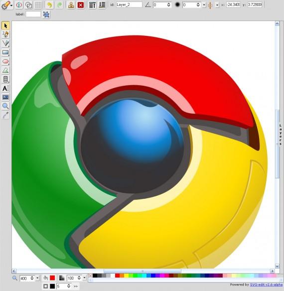Chromeのロゴ2
