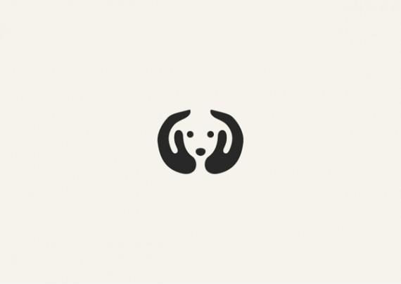 犬のシンプルロゴ