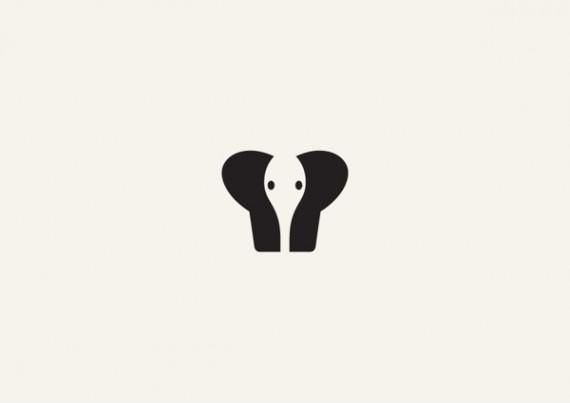 ゾウのシンプルロゴ