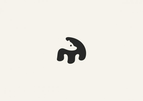 クマのシンプルロゴ