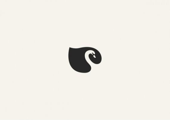 白鳥のシンプルロゴ
