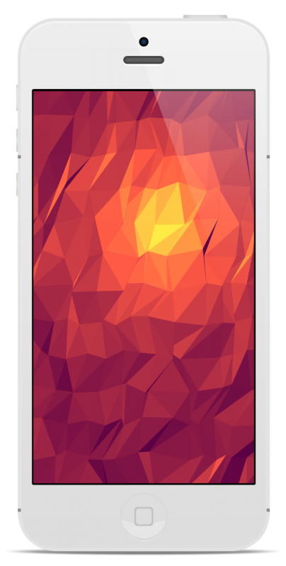 iPhone with Flat Surface Shader