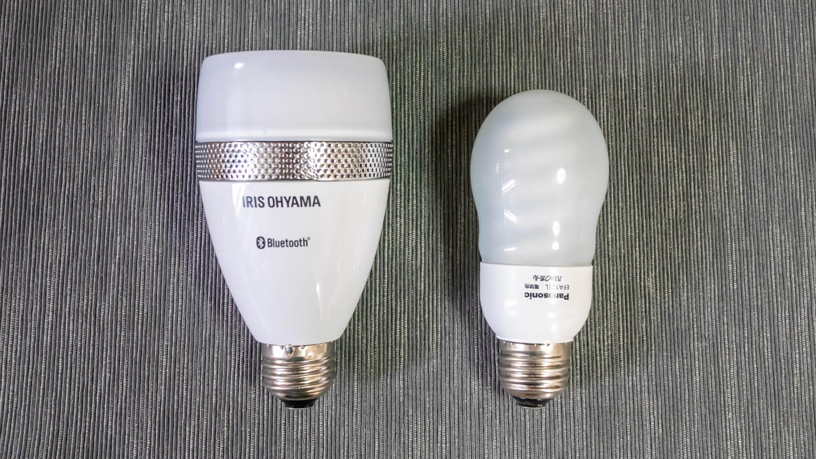 LDF11L-G-4Sと普通の電球の比較