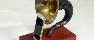 蓄音機iPhoneスタンド