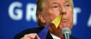 鼻から旗を出すドナルド・トランプ