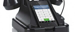 懐かしの黒電話型iPhoneスタンド